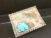 Silver Belt Buckle 925 Silver 54.1g